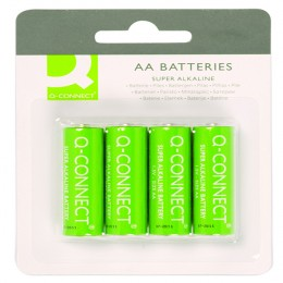 Q-Connect AA Batteries [Pack of 4]