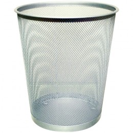 Q-Connect Mesh Waste Basket Silver