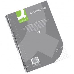 Q-Connect Executive Spiral Pad A4 80 Sheets [Pack of 5]