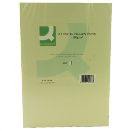 Q-Connect Yellow Copier Paper A4 80g Ream