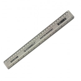 Q-Connect Ruler Shatterproof 30cm White