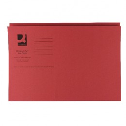 Q-Connect Square Cut Folder Mediumweight Foolscap Red [Pack of 100]