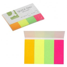 Q-Connect Quick Tabs Neon [Pack of 4x40]