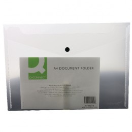 Q-Connect Document Folder Polypropylene A4 Clear [Pack of 12]
