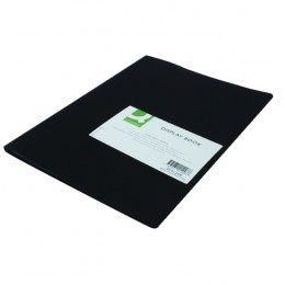 Q-Connect Display Book 10 Pocket Black
