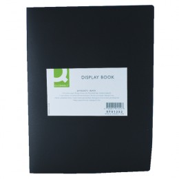 Q-Connect Display Book 20 Pocket Black