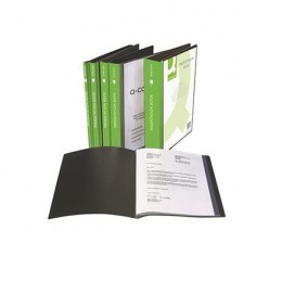 Q-Connect Presentation Book 40 Pocket Black