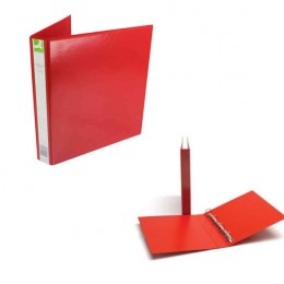 Q-Connect Presentation Binder 4 D-Ring 25mm Red