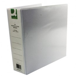 Q-Connect Presentation Binder 4 D-Ring 65mm White [Pack of 6]
