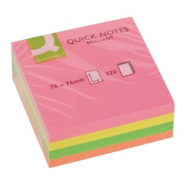 Q-Connect Quick Notes Cube 75x75mm Neon