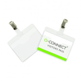 Q-Connect Visitor Badge 60x90mm [Pack of 25]