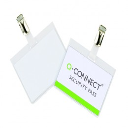Q-Connect Security Badge 60x90mm [Pack of 25]