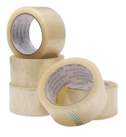 Q-Connect Packaging Tape Clear 50mmx66m [Pack of 6]