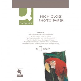 Q-Connect High-Gloss Photo Paper 10x15cm [25 Sheets]
