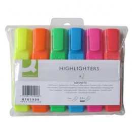 Q-Connect Highlighter Assorted [Pack of 6]