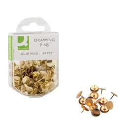 Q-Connect Drawing Pins Brass [Pack of 10x120]