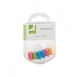 Q-Connect Magnets 24mm Assorted [Pack of 60]