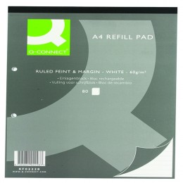 Q-Connect Refill Pad A4 Ruled and Margin [Pack of 10]