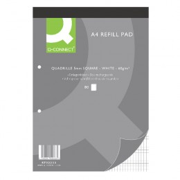 Q-Connect Refill Pad A4 Quadrille Squared [Pack of 10]