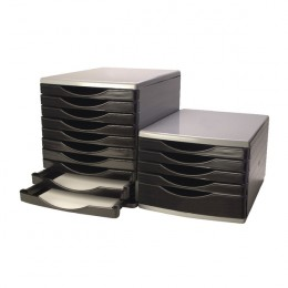 Q-Connect Drawer Set 5 Drawer Black and Grey