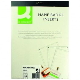 Q-Connect Name Badge Inserts 54x90mm [Pack of 250]