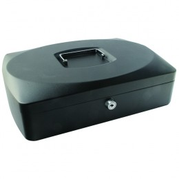 Q-Connect 10 Inch Cash Box Black