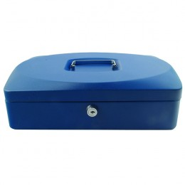 Q-Connect 12 Inch Cash Box Blue