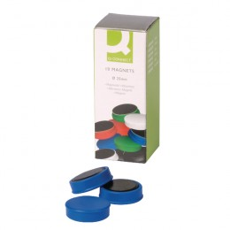 Q-Connect Magnets 25mm Blue [Pack of 10]