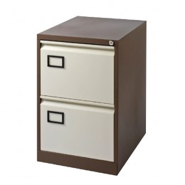 Jemini Filing Cabinet 2 Door Coffee and Cream
