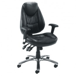 Avior Calabria Leather Look Operator Chair