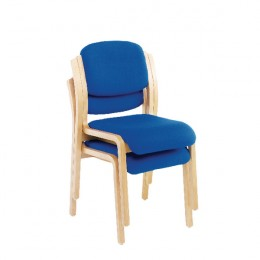 Jemini Wood Frame Side Chair No Arms Blue