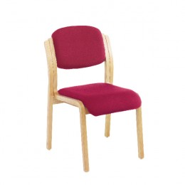 Jemini Wood Frame Sidechair No Arms Claret