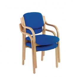 Jemini Wood Frame Side Chair and Arms Blue