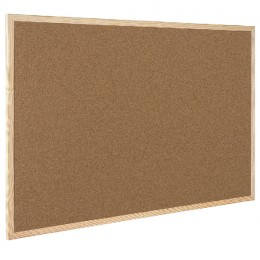 Q-Connect Cork Board Wood Frame 400x600mm