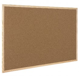 Q-Connect Corkboard Wooden Frame 600x900mm