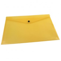 Q-Connect Document Folder Polypropylene A4 Yellow [Pack of 12]
