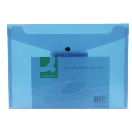 Q-Connect Document Folder Polypropylene A4 Blue [Pack of 12]