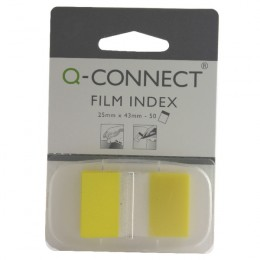 Q-Connect Page Marker 1 Inch Yellow [Pack of 50]
