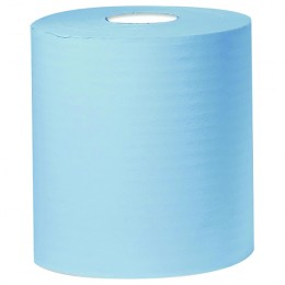 2work Centrefeed Roll 2 Ply 150m Blue [Pack of 6]