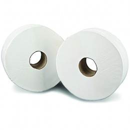 2work Jumbo Toilet Roll 2 Ply 200m [Pack of 12]