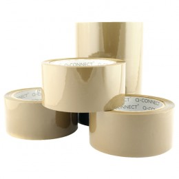 Q-Connect Low-Noise Packaging Tape Brown [Pack of 6]