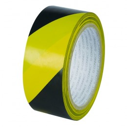 Q-Connect Hazard Tape 48mmx20m Yellow and Black [Pack of 6]