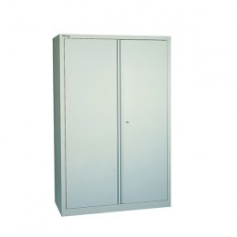 Jemini 72 Inch 2 Door Cupboard 3 Shelves Grey