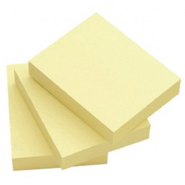Q-Connect Quick Notes 50x75mm Yellow [Pack of 12]
