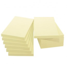 Q-Connect Quick Notes Large Yellow 5x3 Inches [Pack of 12]