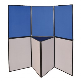 Q-Connect Display Board 6 Panel Blue Grey
