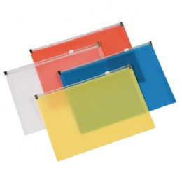 Q-Connect Document Wallet With Zip A4 Assorted [Pack of 20]