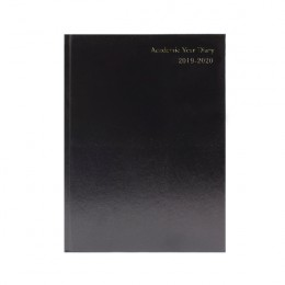 Condiary A4 Academic Diary Day per Page 2019-2020 Black