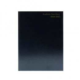 Condiary A5 Academic Diary Day per Page 2020-2021 Black