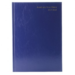 Condiary A5 Academic Diary Day per Page 2017-2018 Blue